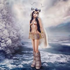 Oh deer! (dessert-crazytoasty) Tags: girl dessert blog sl fantasy secondlife slave gor kajira gorean