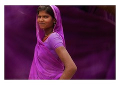 the power of purple (handheld-films) Tags: travel portrait woman india girl smile smiling female flow women power purple indian pride portraiture strong strength determined sari dignity rajasthan individual subcontinent individualism resolute
