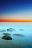Silence of the sea (Johan_Lithun) Tags: longexposure sunset sea beach colors singapore silence bluehour seascap èè²