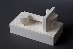 Wall House 2: John Hejduk (WhiteBrix) Tags: 2 white house scale netherlands wall architecture john lego union cooper micro groningen lecorbusier hejduk microscale