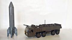 Missile transporter (John Lamarck) Tags: lego sluban mega bloks bricks missile truck jeeo military war