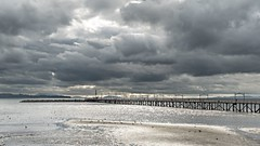 White Rock Pier, British Columbia (RussellK2013) Tags: d750 whiterock pier water ocean britishcolumbia canada clouds cloud moody stormy nikon nikkor ngc 1635mmf4ged 1635mmf4vr wideangle seascape sea landscape