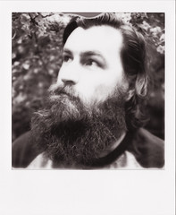 Wetland wanderer (rachael*b) Tags: polaroid roidweek impossibleproject impossiblefilm slr680 blackwhite adam portrait beard thepolavoid snapitseeit