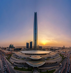 Perfect Kingdom (Faisal Bin Zarah) Tags: riyadh sunset saudi arabia kingdom tower kingdomcentre| panorama