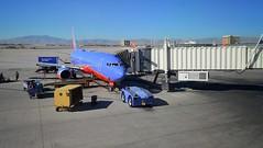 Southwest LAS to MDW (mswan777) Tags: southwest airlines airplane 737 airport desert sky mountain jet travel tarmac las vegas sun mccarran nikon d5100 nikkor 1855mm flight