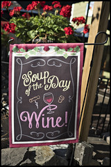 The Soup of the Day is..Wine! (pfarkas67) Tags: newhope buckscounty pa sign signage wine olympus omd em5 markii 17mm f18