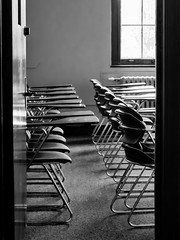 chairs (jojoannabanana) Tags: 3662016 blackandwhite canonpowershot chairs empty monochrome s100
