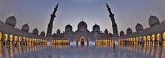 Shaikh Zayed Grand Mosque fisheye (sonofwalrus) Tags:   canon eos7d slr stitched panorama uae unitedarabemirates middleeast abudhabi mosque masjid domes arches szgm shaikhzayedgrandmosque dusk architecture islam minarets