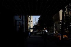 Into The Light (andyfpp) Tags: fujifilm fuji x100t velvia light dark newyork newyorkcity nyc manhattan chryslerbuilding gramercyparkhotel 2016 building buildings architecture cab yellowcab lights perspective