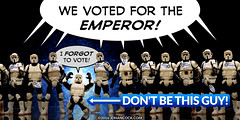 PopFig: Vote for Emperor Palpatine (JD Hancock) Tags: jdhancock popfig comics lol webcomics geeky photocomics fun funny starwars stormtroopers scouttroopers