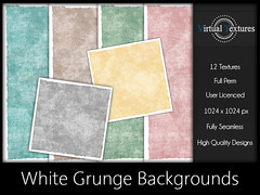 [VT] White Grunge Backgrounds (VirtualTextures) Tags: textures secondlife backgrounds backdrops grunge distressed