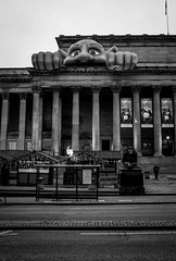2016_332 (Chilanga Cement) Tags: fuji fujix100t x100t xseries x100s x100 monochrome bw blackandwhite columns column liverpoolstreetphotography liverpool stgeorgshall shrek monster steps