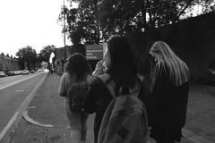 Girls (Fani Avdela) Tags: light stoplight redlight girls walking live life love enjoy travel moving happy england nottingham uk students erasmus station smooth canon flickr photography blackandwhite monochrome road outdoor national white black art tree trees new scenic portrait alternative digital street camera people closeup