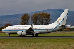 FAC0001 02 (GH@BHD) Tags: fac0001 boeing 737 b737 737700 bbj colombianairforce bhd egac belfastcityairport executive corporate bizjet military vip