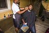 (Ben Helton) Tags: haircut barber outside mirror bluesky trees flash canon candid photojournalism documentary streetphotography benhelton wwwbenheltoncom black africanamerican wedding