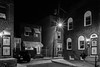 South Beulah Street (D. Coleman Photography) Tags: south philly philadelphia dickinson narrows beulah street night lights shots black white rowhome rowhomes urban city dense side alley