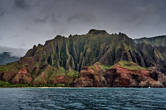 NaPali Coast (AgarwalArun) Tags: sonya7m2 sonyilce7m2 hawaii kauai island landscape scenic nature views mountain fog clouds storm weather napalicoast pacificocean ocean water waves surf napali ruggedcoastline cliffs