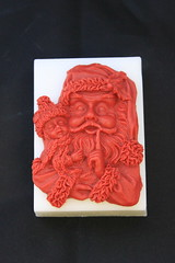 Santa with Child Soap $4.00 (Clelian Heights) Tags: cleliancenterproducts cleliancenter cleliansoaps decorativesoaps christmas santa