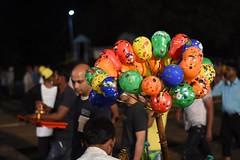 Balloon Seller.... (kailas bhopi) Tags: balloon light street streetphotography nikon7200 50mm18g colourfull night nikon