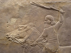 Rider with Whip (Aidan McRae Thomson) Tags: nineveh relief britishmuseum london assyrian sculpture mesopotamia ancient