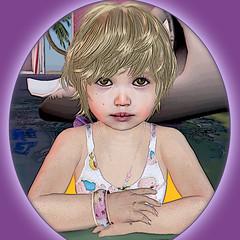 Cutie - Sasha in pool (Alea Lamont) Tags: boy baby kids hair children us toddler child mesh skin avatar shapes kinder avatars r tots toddlers cuties dura kidsrus ndmd