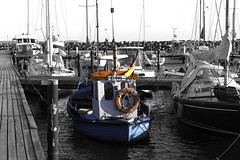 Glowe Hafen (Thorsten1979) Tags: sea baltic rgen ostsee glowe colourkey colourkeying