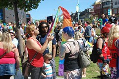 """Crowds prepare for the colourful and noisy Plymouth Pride Parade 2015 • <a style=""""font-size:0.8em;"""" href=""""http://www.flickr.com/photos/66700933@N06/20009553913/"""" target=""""_blank"""">View on Flickr</a>"""