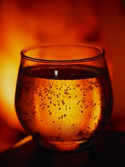 Bubbles (KellyCDB) Tags: light orange color glass lamp yellow warm wine winespritzer