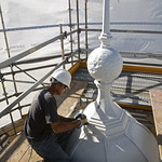 Finishing touches on cupola - August 20