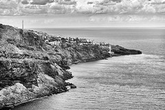 XT1F1042 Madeira Portugal 08'2015 (Artur Malinowski) Tags: bw portugal madera madeira portugalia silverefexpro2 fujixt1