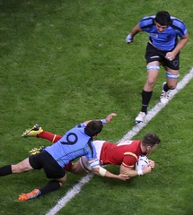 Gareth Davies try, Rugby World Cup (Sum_of_Marc) Tags: world cup pool sport wales ball uruguay rugby stadium union cymru cardiff millenium tournament match worldcup milleniumstadium
