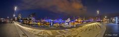 Hafenpromenade - 02091501 (Klaus Kehrls) Tags: panorama marina promenade hafen elbe schiffe neustadt elbufer nachtaufnahmen flickrbronzetrophygroup hamburghamburgerhafen