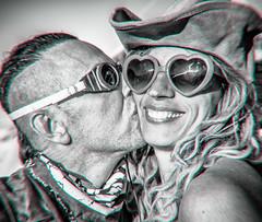 Stealing a kiss (johnsdigitaldreams.com) Tags: blackandwhite us unitedstates nevada burningman blackrockcity crop hdr johnchandler blackrockdesert johnsdigitaldreamscom sel35f28z analogefexpro burningman2015 sonya7rm2