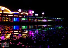 Spiegelzelt Spiegelung (genelabo) Tags: night munich mnchen lights nacht reflexion spiegelung bunt lichter spiegelzelt