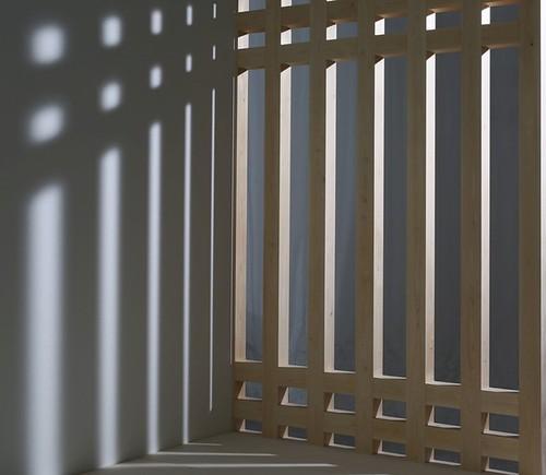 メーターモジュール桧四寸木組耐力壁の写真