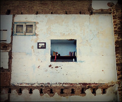No ms desahucios (markel 2007) Tags: ventana casa ruina libros memoria cuadro pobreza especulacin vivienda derribo desahucios