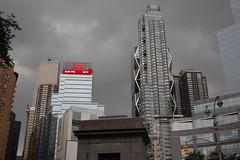 CNN Building (mademoisellelapiquante) Tags: city nyc newyorkcity newyork storm cnn