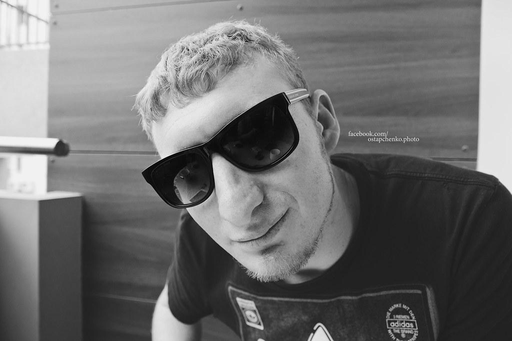 dea0bb24b7f2 black glasses (Vladimir Ostpachenko) Tags  travel portrait monochrome face sunglasses  canon glasses friend