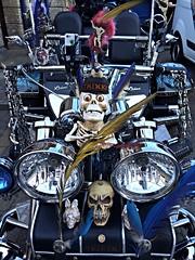 """Mad Triker"" and his trike (Ian Press Photography) Tags: bike skulls skull suffolk waterfront motorbike chrome customized biker trike mad custom ipswich customised chromed triker"