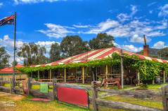 Cockfighter Creek Tavern, Bulga NSW (Thanks For Your Kind Support) Tags: sky panorama architecture clouds landscape australia nsw 1855mm archways broke hdr huntervalley bulga hunterregion kevinwalker canon1100d bulgabridge