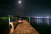 Chiquilá Port, Rio Lagartos. Yuc. (Xavy Vp) Tags: moon rio méxico night photography luces noche boat nikon gulf luna yucatán lightning reflexion lancha golfo reflejos vp lagartos xavy 1224mmf4 d7100