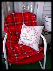 Back Porch (Aunt Owwee) Tags: christmas winter red chair wrap pillow blanket backporch sugarbucket
