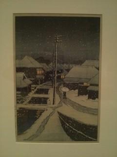 Kawase Hasui - Snow at Terajima