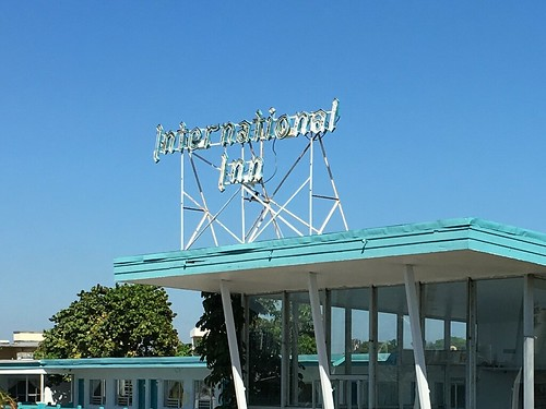 International Inn Motel Scaffold Sign 1956