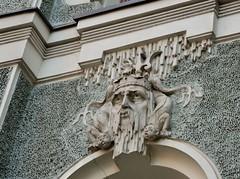 2015 09 19 036 Riga (Mark Baker.) Tags: city autumn urban detail building art photo europe baker outdoor mark baltic architectural latvia september photograph states nouveau riga rīga 2015 picsmark