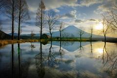 Beautiful Morning (Yuga Kurita) Tags: morning reflection nature japan reflections landscape pond fuji mt sigma mount fujisan quattro dp0