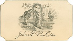 A Happy New Year, John G. Van Etten (Alan Mays) Tags: old vintage typography holidays antique 19thcentury victorian illustrations newyear ephemera type newyears fonts newyearsday typefaces nineteenthcentury upd callingcards january1