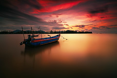 Resting part II [explored] (fiz_zero) Tags: longexposure sunset red sea wallpaper sky sun holiday seascape beach nature water beautiful skyline clouds sunrise landscape dawn boat seaside nikon colorful asia outdoor dusk background awesome explore malaysia lumut perak singhray nikon1635mmf4vr telukmuruh nisind1000 nisifilter nikond750 nisimalaysia