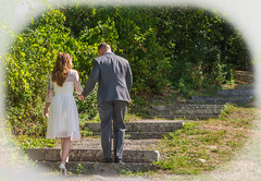 THE LONG WALK (jlucierphoto) Tags: wedding marriage woman man girls family lovelyflickr