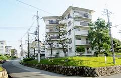 Koridanchi District 1761 (Tangled Bank) Tags: koridancho hirakata japan japanese asia asian town city suburban residential buildings architecture structure condominium apartment